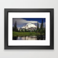 Mt Rainier In Washington Framed Art Print