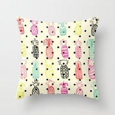 Tropic Pineapple Throw Pillow