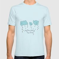 Rain Mens Fitted Tee Light Blue SMALL