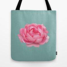 Rose on mint Tote Bag