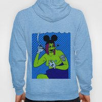 SMOKE.   (Mouseketeer).  (On Blue). Hoody