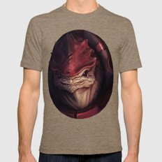 Mass Effect: Urdnot Wrex Mens Fitted Tee Tri-Coffee SMALL