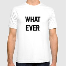 Whatever Mens Fitted Tee SMALL White