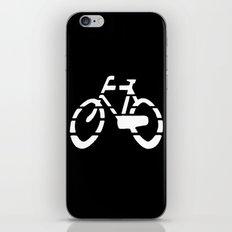 Bike Silhouette Black iPhone & iPod Skin