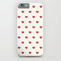 Cute Red Hearts Pattern iPhone 6 Slim Case