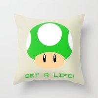 Get A Life! (Super Mario… Throw Pillow