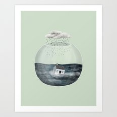 Glass Bowl House Art Print