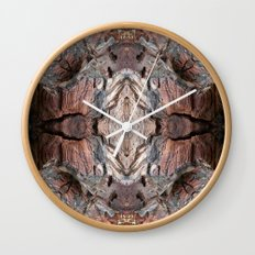 Petrified Wood in Abstract Wall Clock