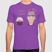 Baroque Delights Mens Fitted Tee Ultraviolet SMALL
