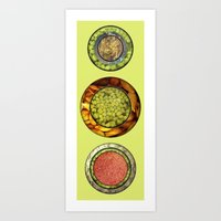 Food Mix Tris Art Print