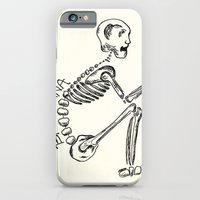 "iPhone & iPod Case featuring ""Bakasana"" Skeleton Print by devonstorm"