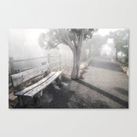 Mists Before The Trail O… Canvas Print