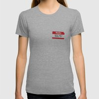 Hello my name is Womens Fitted Tee Athletic Grey SMALL