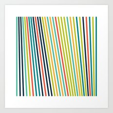 #623 lines Art Print