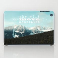 she will move mountains iPad Case