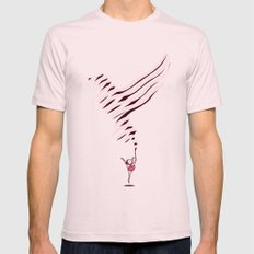 The Lark Ascending Light Pink SMALL Mens Fitted Tee