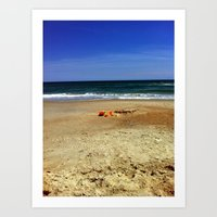 A Day in the Sand Art Print