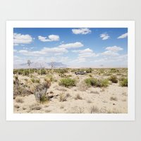 Salt Flat, Texas Art Print