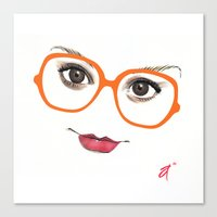 Hipster Eyes 2 Canvas Print