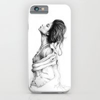 lady iPhone & iPod Cases featuring Pretty Lady Illustration by Olechka