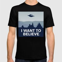 My X-files: I want to believe poster Mens Fitted Tee Black SMALL