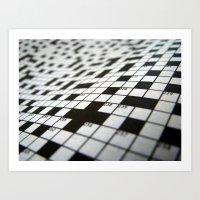 Crossword Art Print
