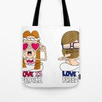 LOVEISPEACE&FREEDOM Tote Bag