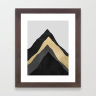 Four Mountains Framed Art Print