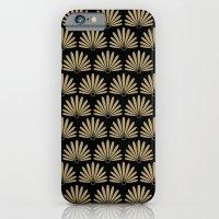Tan & Black Daisies iPhone 6 Slim Case