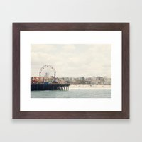 Santa Monica Pier. Happy Birthday Pacific Park!  Framed Art Print