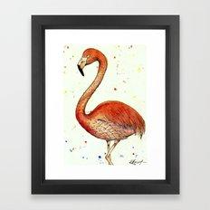 Colourful Flamingo  Framed Art Print