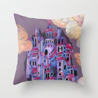 In the Clouds Throw Pillow