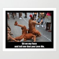 Sit On My Face - Poster Art Print