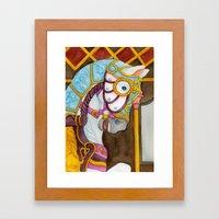 Carousel Horse - Clara Framed Art Print
