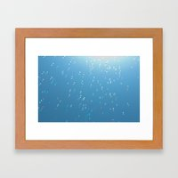 Bubbles up to the sun Framed Art Print