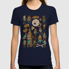 Wow! Werewolves!  Womens Fitted Tee Navy SMALL