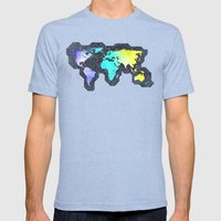 The World Belongs to you Mens Fitted Tee Tri-Blue SMALL
