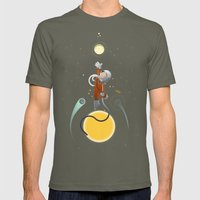 Space is the place Mens Fitted Tee Lieutenant SMALL
