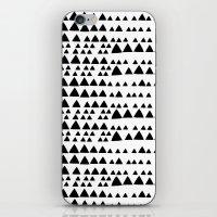 Black and White Triangle iPhone & iPod Skin