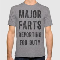 Major Farts Mens Fitted Tee Athletic Grey SMALL