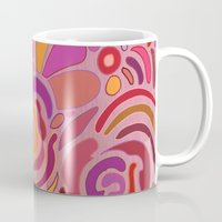 Rose fragments, pink, purple and orange Mug