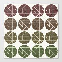Circles Gradient  Canvas Print