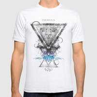 Nebula Mens Fitted Tee Ash Grey SMALL