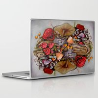 alice in wonderland Laptop & iPad Skins featuring Wonderland by HeatherIRELANDArtz