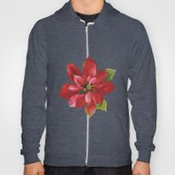 Christmas Poinsettia Hoody