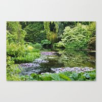 Summer pond Canvas Print