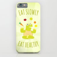 Eat slowly, eat healthy. A PSA for stressed creatives. iPhone 6 Slim Case