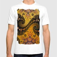 T-shirt featuring Golden Dragon Spirals An… by Thea Walstra