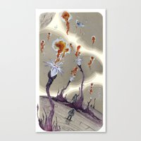 Fire From Outer Space Canvas Print