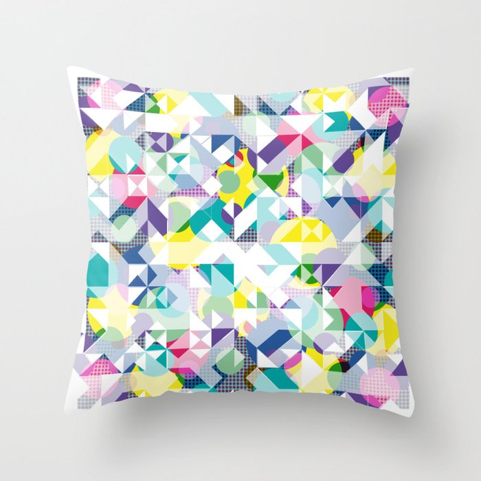 Throw Pillows Spotlight : Aztec Spot Throw Pillow by AJJ Angela Jane Johnston Society6